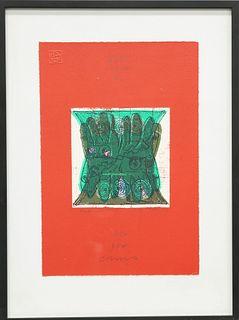 GORDON HOUSE (1932-2004), TRADESCANT HANDS, artist's proof,
