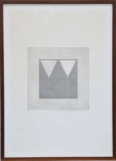 GORDON HOUSE (1932-2004), TRIANGLES WITHIN A SQUARE, proof,