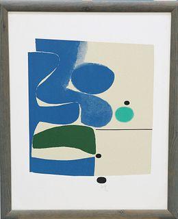 VICTOR PASMORE (BRITISH, 1908-1998), BLUE MOVEMENT AND GREE