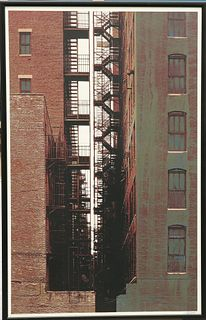 GERD WINNER (GERMAN, BORN 1936), NEW YORK CANYON,signed in