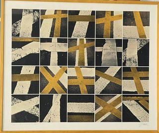 GERD WINNER (BORN 1936), EPITATH FOR ROSE, screenprint, sig