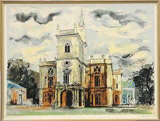 "JOHN PIPER (BRITISH, 1903-1992), FLINTHAM HALL FROM ""VICTOR"