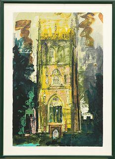 JOHN PIPER (BRITISH, 1903-1992), ISLE OF ABBOTS, silkscreen