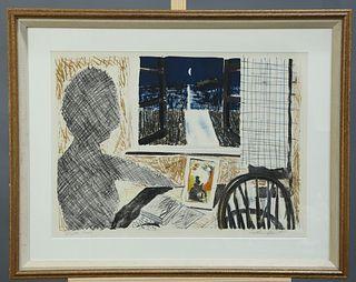 ALISTAIR GRANT (1925-1997), MOONLIGHT THROUGH WINDOW, signe