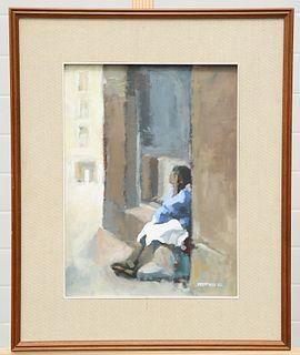 DAVID STEFAN PRZEPIORA (POLISH, BORN 1944), GIRL SITTING IN