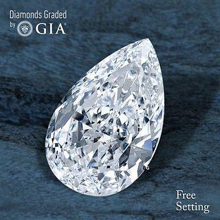3.01 ct, E/VVS1, Pear cut Diamond. Unmounted. Appraised Value: $155,300