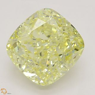 1.73 ct, Natural Fancy Yellow Even Color, VVS2, Radiant cut Diamond (GIA Graded), Unmounted, Appraised Value: $25,500