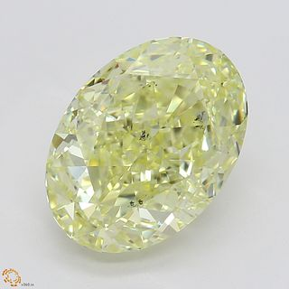 3.02 ct, Natural Fancy Yellow Even Color, SI1, Heart cut Diamond (GIA Graded), Unmounted, Appraised Value: $45,800
