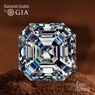 3.01 ct, F/VS1, Sq. Emerald cut Diamond. Unmounted. Appraised Value: $115,800