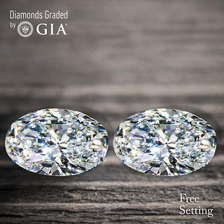2.41 carat diamond pair Oval cut Diamond GIA Graded 1) 1.21 ct, Color D, VVS1 2) 1.20 ct, Color D, VVS2. Unmounted. Appraised Value: $37,800