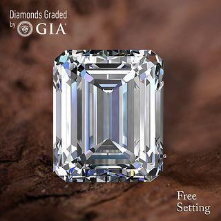 4.02 ct, E/VVS2, Emerald cut Diamond. Unmounted. Appraised Value: $293,400