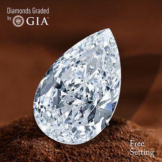 3.01 ct, D/VVS2, Pear cut Diamond. Unmounted. Appraised Value: $155,300