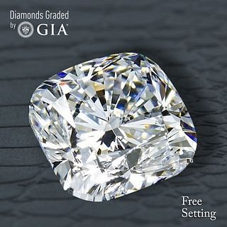3.50 ct, D/VVS1, Cushion Bri. cut Diamond. Unmounted. Appraised Value: $234,500