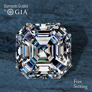 3.30 ct, F/VVS1, Sq. Emerald cut Diamond. Unmounted. Appraised Value: $153,000
