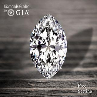4.01 ct, D/VVS2, TYPE IIA Marquise cut Diamond. Unmounted. Appraised Value: $316,700