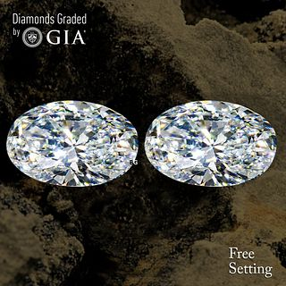 5.01 carat diamond pair Oval cut Diamond GIA Graded 1) 2.50 ct, Color G, VS1 2) 2.51 ct, Color G, VS2. Unmounted. Appraised Value: $109,700