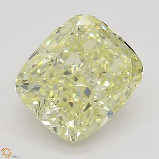2.02 ct, Natural Fancy Light Yellow Even Color, VVS1, Heart cut Diamond (GIA Graded), Unmounted, Appraised Value: $23,400