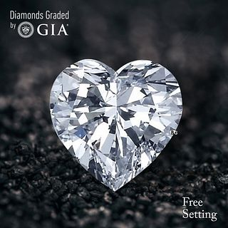 2.51 ct, E/VVS2, Heart cut Diamond. Unmounted. Appraised Value: $72,400