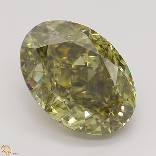 3.52 ct, Natural Fancy Dark Brown Greenish Yellow Even Color, SI1, Pear cut Diamond (GIA Graded), Unmounted, Appraised Value: $34,100