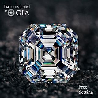4.01 ct, D/FL, Sq. Emerald cut Diamond. Unmounted. Appraised Value: $521,300