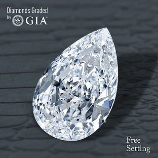 1.51 ct, E/IF, Pear cut Diamond. Unmounted. Appraised Value: $36,800