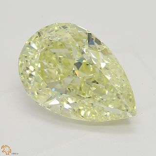 2.50 ct, Natural Fancy Light Yellow Even Color, SI1, Heart cut Diamond (GIA Graded), Unmounted, Appraised Value: $35,300