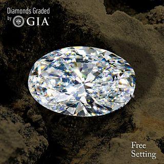 3.03 ct, E/VVS2, Oval cut Diamond. Unmounted. Appraised Value: $140,500