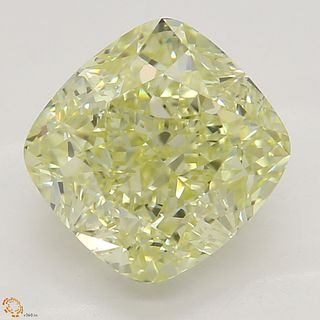 2.21 ct, Natural Fancy Light Yellow Even Color, VS1, Heart cut Diamond (GIA Graded), Unmounted, Appraised Value: $25,100