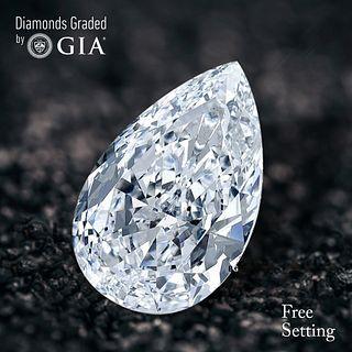 2.01 ct, F/VS2, Pear cut Diamond. Unmounted. Appraised Value: $45,700