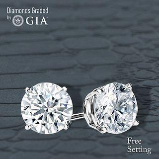 5.40 carat diamond pair Round cut Diamond GIA Graded 1) 2.70 ct, Color G, VS1 2) 2.70 ct, Color G, VS1. Unmounted. Appraised Value: $146,600