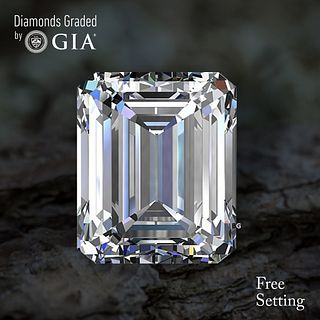 2.01 ct, D/VS1, Emerald cut Diamond. Unmounted. Appraised Value: $58,000