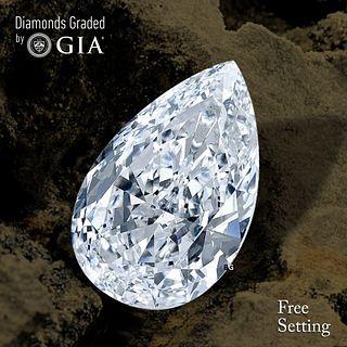 3.01 ct, E/VS2, Pear cut Diamond. Unmounted. Appraised Value: $113,200