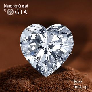 5.01 ct, D/VS2, Heart cut Diamond. Unmounted. Appraised Value: $495,900