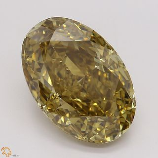 3.28 ct, Natural Fancy Deep Brown Yellow Even Color, VVS2, Pear cut Diamond (GIA Graded), Unmounted, Appraised Value: $34,100