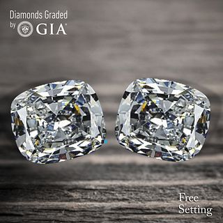 6.02 carat diamond pair Cushion cut Diamond GIA Graded 1) 3.01 ct, Color D, VS1 2) 3.01 ct, Color E, VS2. Unmounted. Appraised Value: $252,900