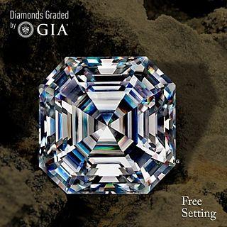 4.01 ct, E/VS1, Sq. Emerald cut Diamond. Unmounted. Appraised Value: $272,600