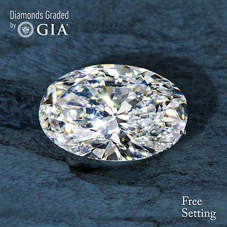 3.02 ct, D/VVS1, Oval cut Diamond. Unmounted. Appraised Value: $202,300
