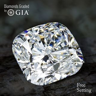 3.01 ct, G/VVS1, Cushion cut Diamond. Unmounted. Appraised Value: $123,700