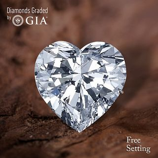 4.07 ct, D/VVS2, Heart cut Diamond. Unmounted. Appraised Value: $321,500