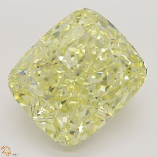 12.72 ct, Natural Fancy Light Yellow Even Color, VVS1, Oval cut Diamond (GIA Graded), Unmounted, Appraised Value: $446,400