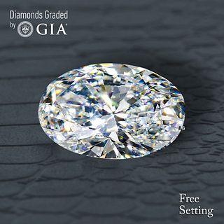 2.02 ct, D/VS1, Oval cut Diamond. Unmounted. Appraised Value: $58,300