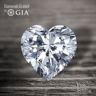 2.02 ct, E/VVS1, Heart cut Diamond. Unmounted. Appraised Value: $61,800
