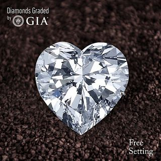 2.50 ct, D/VVS2, Heart cut Diamond. Unmounted. Appraised Value: $80,900