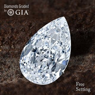 3.50 ct, D/VVS2, Pear cut Diamond. Unmounted. Appraised Value: $180,600