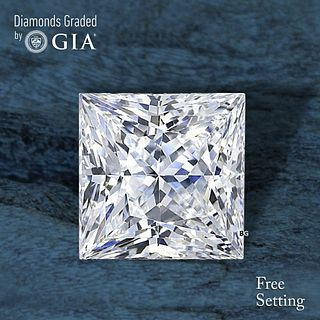 3.51 ct, F/VS1, Princess cut Diamond. Unmounted. Appraised Value: $135,100
