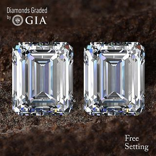 6.02 carat diamond pair Emerald cut Diamond GIA Graded 1) 3.01 ct, Color I, VS1 2) 3.01 ct, Color I, VS1. Unmounted. Appraised Value: $142,400