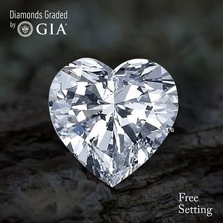 2.01 ct, D/VVS2, Heart cut Diamond. Unmounted. Appraised Value: $65,000