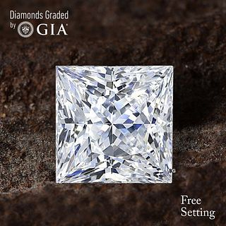 3.07 ct, D/VS2, Princess cut Diamond. Unmounted. Appraised Value: $126,200