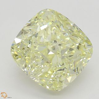 3.62 ct, Natural Fancy Light Yellow Even Color, VS1, Pear cut Diamond (GIA Graded), Unmounted, Appraised Value: $56,400