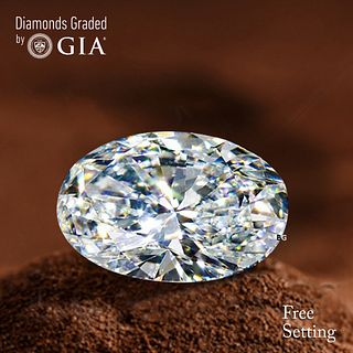 3.10 ct, D/VVS2, Oval cut Diamond. Unmounted. Appraised Value: $160,000